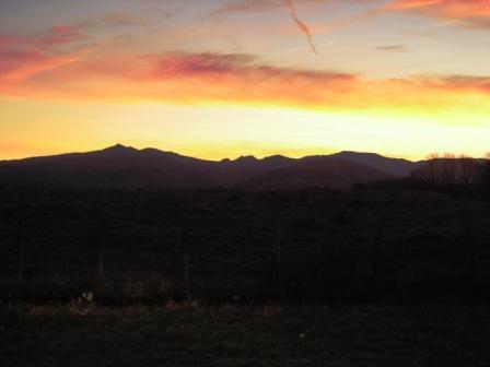 Lever du jour sur mont du Cantal