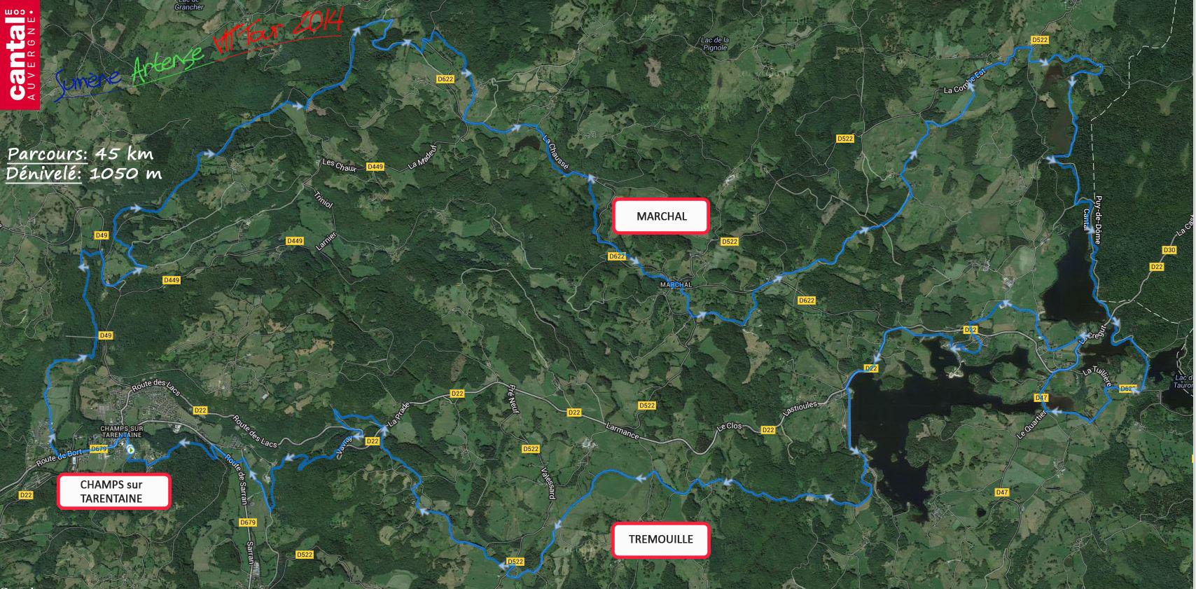 2014 savtt tour parcours 45 km distance
