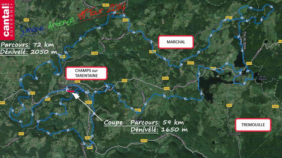 2014 savtt tour parcours 72 km distance