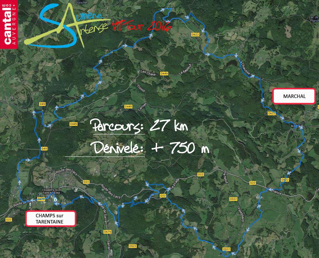 2016 savtt tour parcours 30 km distance