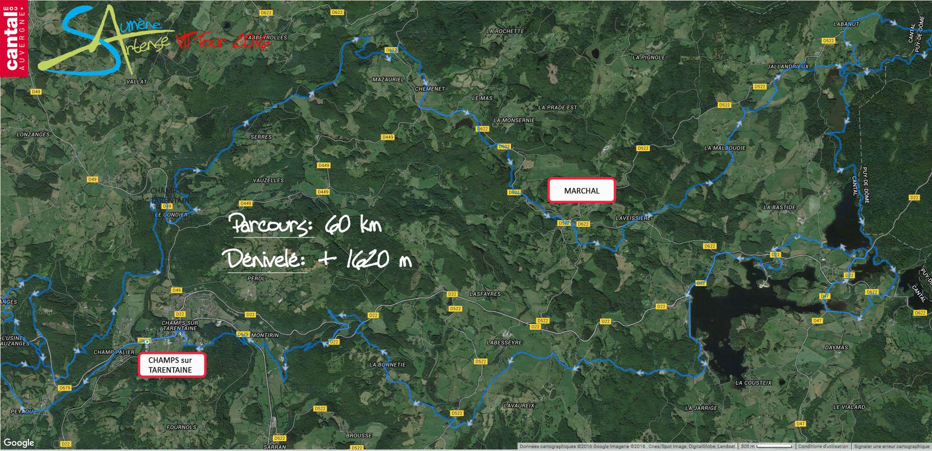 2016 savtt tour parcours 60 km distance