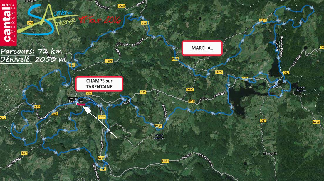 2016 savtt tour parcours 75 km distance