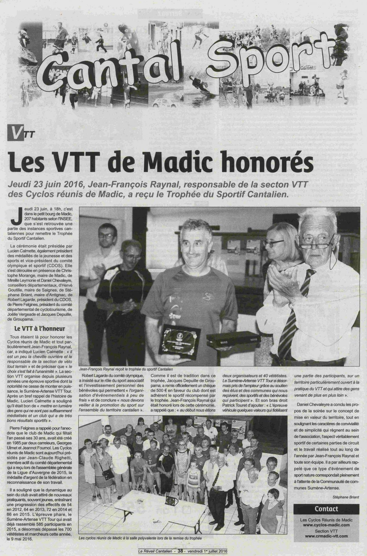 Article medaille